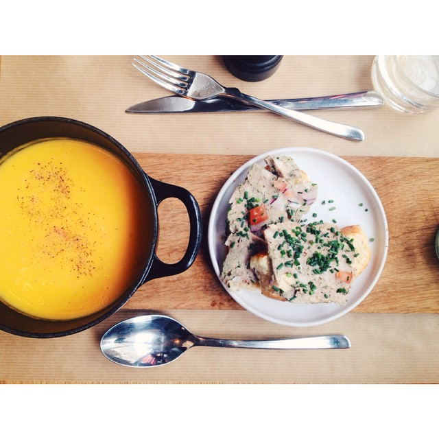 Soupe du soir bonsoir! #patatedouce #soupe #terrine #instafood #soup #diner