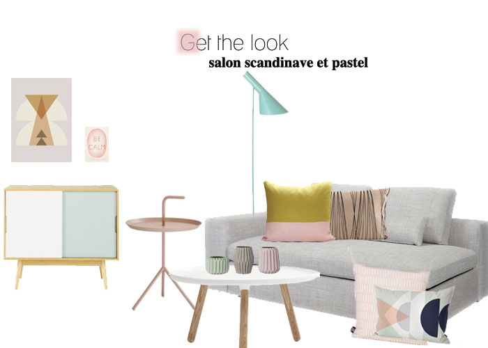 Get the look : salon scandinave et pastel - Lili in wonderland