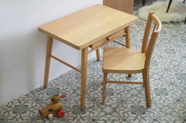 bureau-et-chaise-baumann-enfant-annees-50