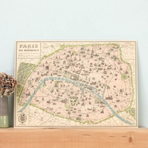 Carte Vintage Paris