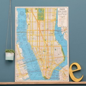 Carte Vintage New York