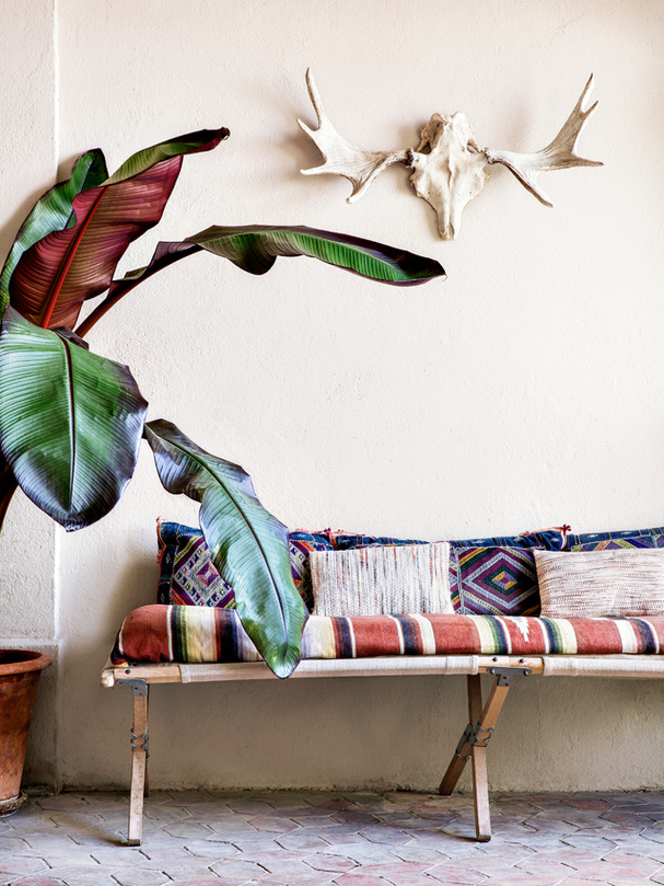 Textiles étnicos para decorar