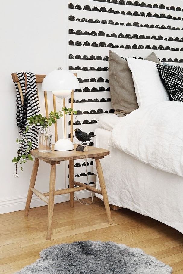 6 diy r aliser avec du papier peint. Black Bedroom Furniture Sets. Home Design Ideas