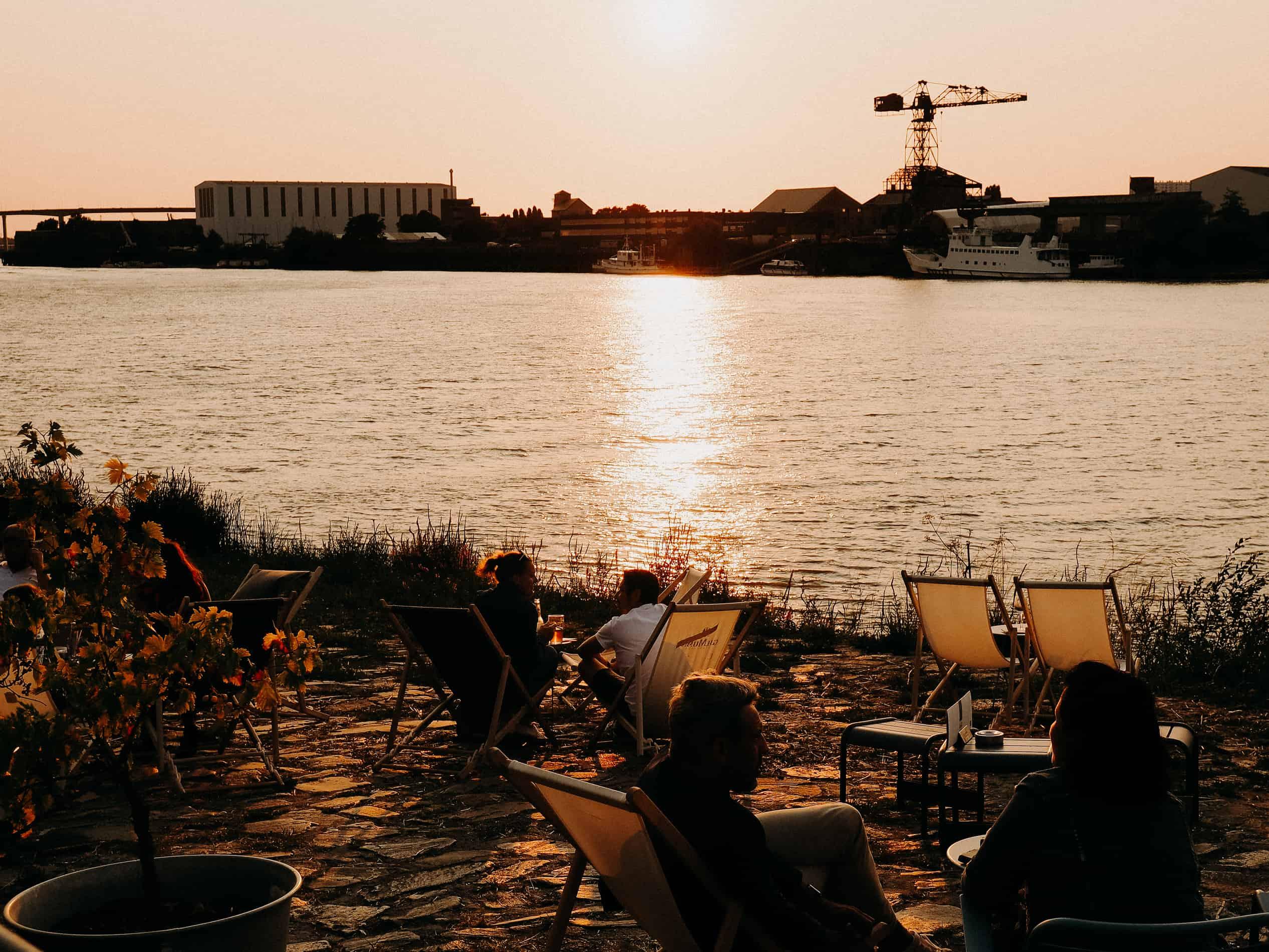 week-end à Nantes cityguide voyage France Trentemoult coucher de soleil