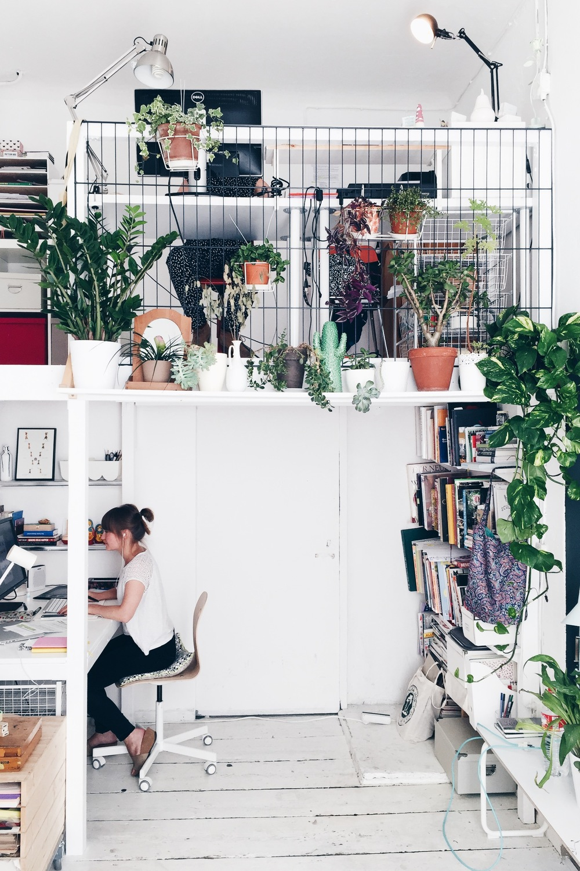 un bureau plein de plantes lili in wonderland. Black Bedroom Furniture Sets. Home Design Ideas