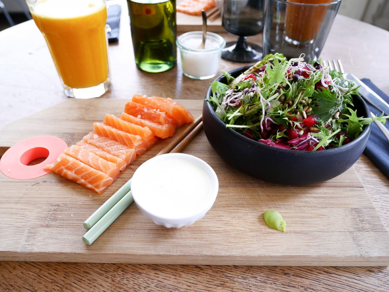 sashimi ICI cantine brunch bruxelles city guide week end travel lifestyle blog deco lili in wonderland