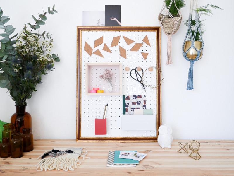 DIY panneau rangement bureau blog déco Lili in Wonderland