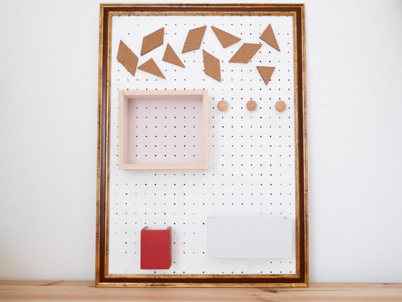 DIY panneau rangement bureau organiseur blog deco Lili in Wonderland