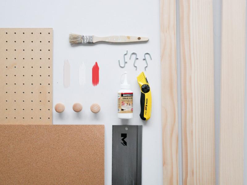 DIY panneau rangement bureau blog Lili in Wonderland organiseur bureau