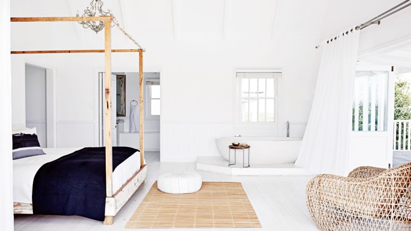 chambre maison de plage moderne vacances liliinwonderland