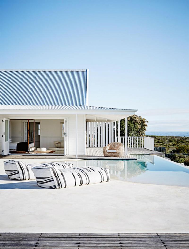 piscine maison de plage moderne vacances liliinwonderland