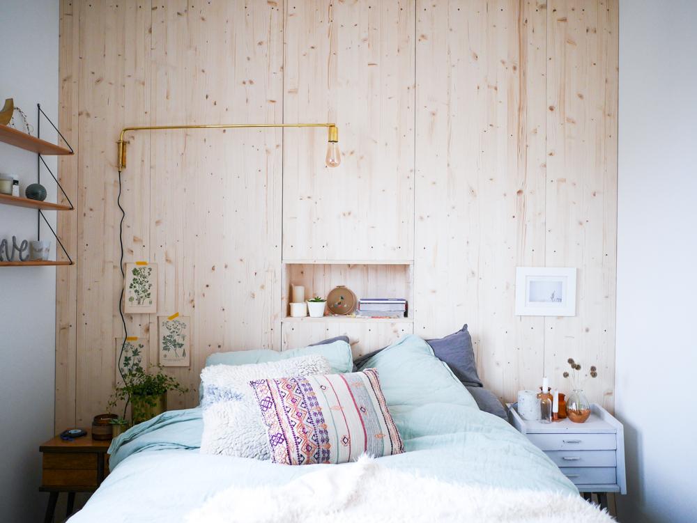 Mur Tete De Lit diy : un mur en bois comme tête de lit - lili in wonderland