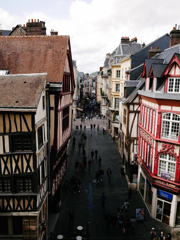 rue du Gros Horloge week end à Rouen que voir que faire