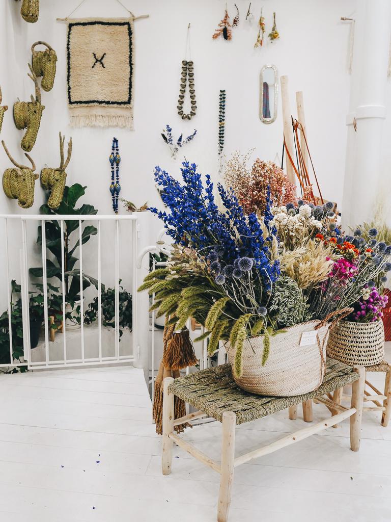 fleurs séchées Pompon Bazar adresse déco Paris Lili in Wonderland