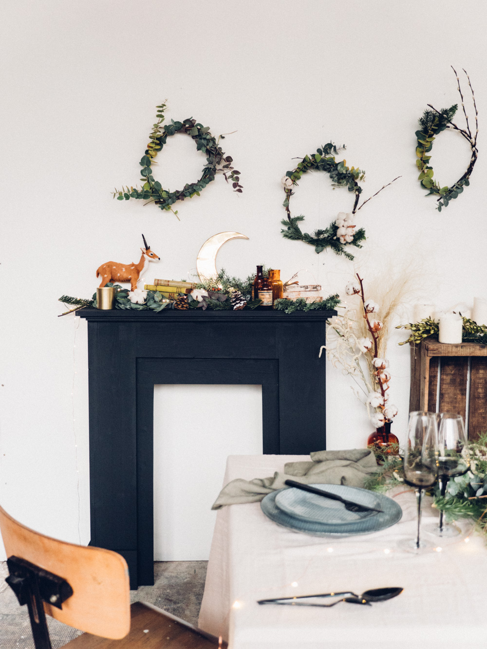 diy une fausse chemin e pour no l lili in wonderland. Black Bedroom Furniture Sets. Home Design Ideas