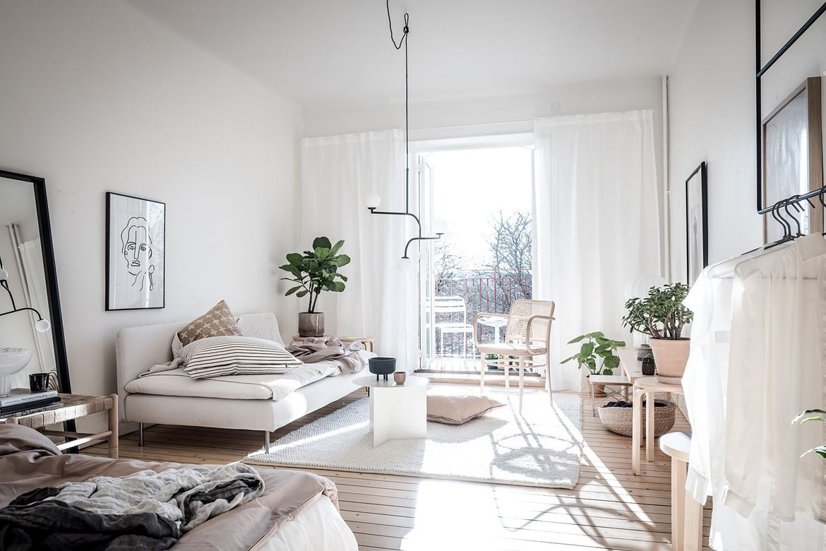 un petit appartement scandinave tout doux lili in wonderland. Black Bedroom Furniture Sets. Home Design Ideas