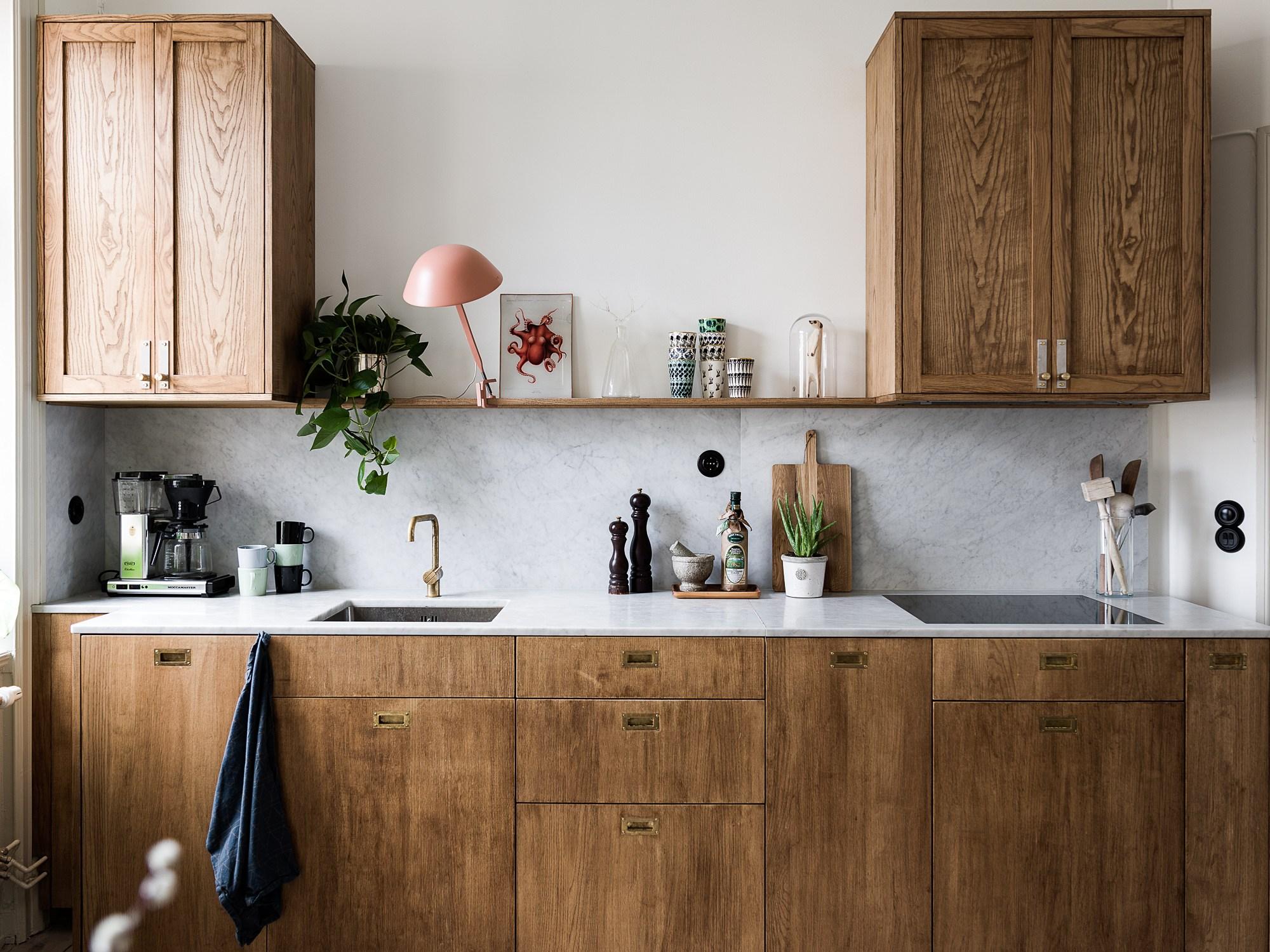 cuisine marbre et bois déco blog Lili in Wonderland