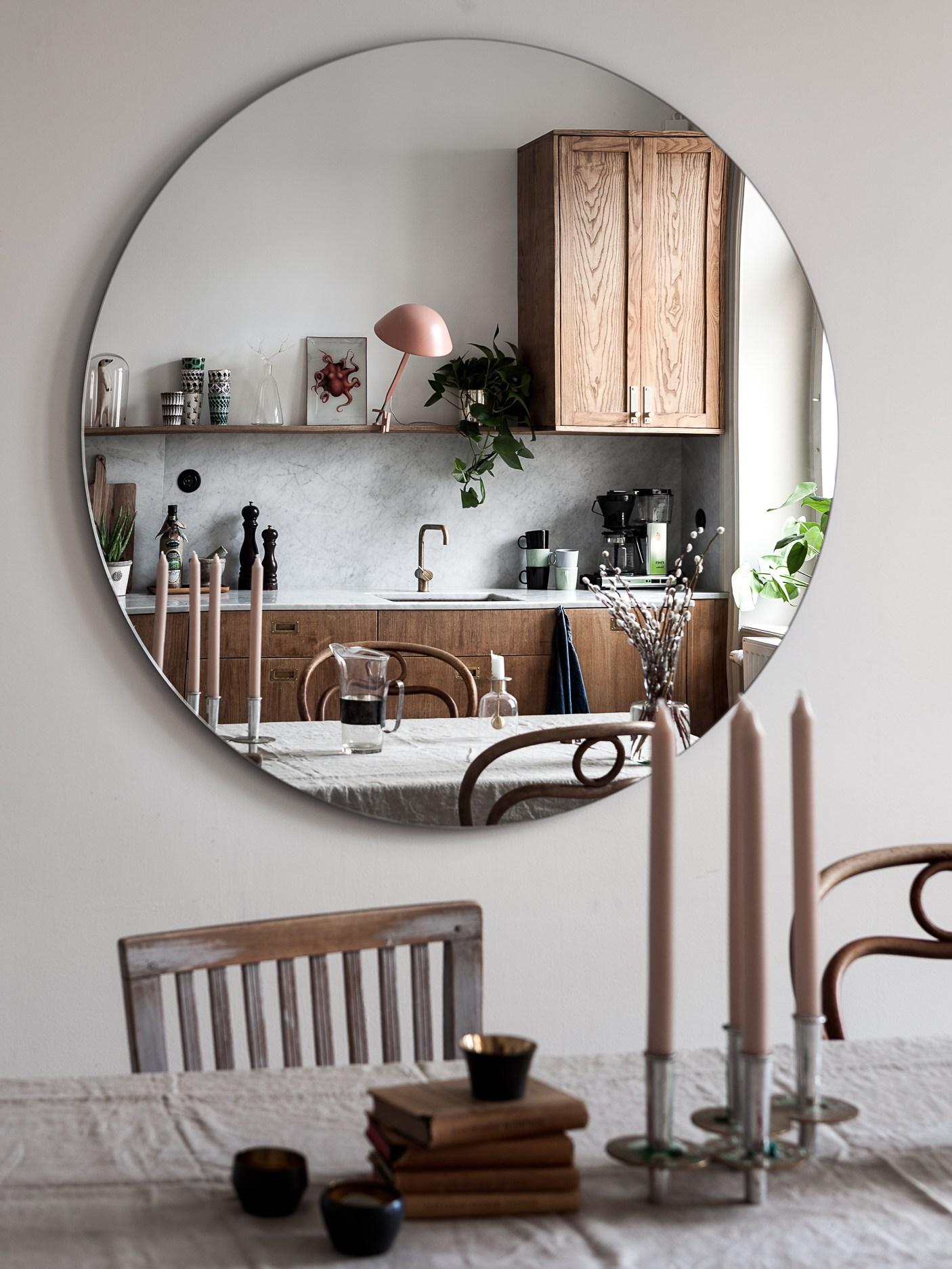 miroir cuisine marbre et bois déco blog Lili in Wonderland