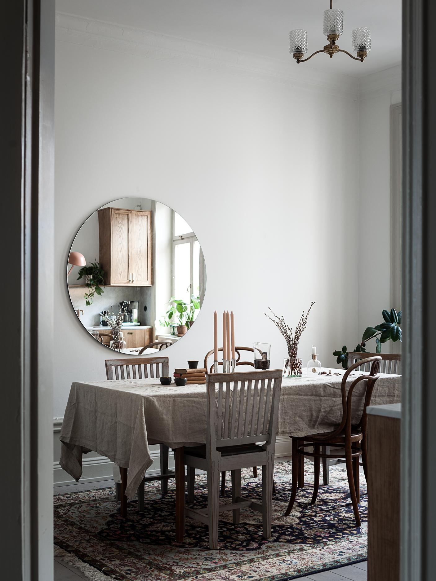 table salle à manger cuisine marbre et bois déco blog Lili in Wonderland