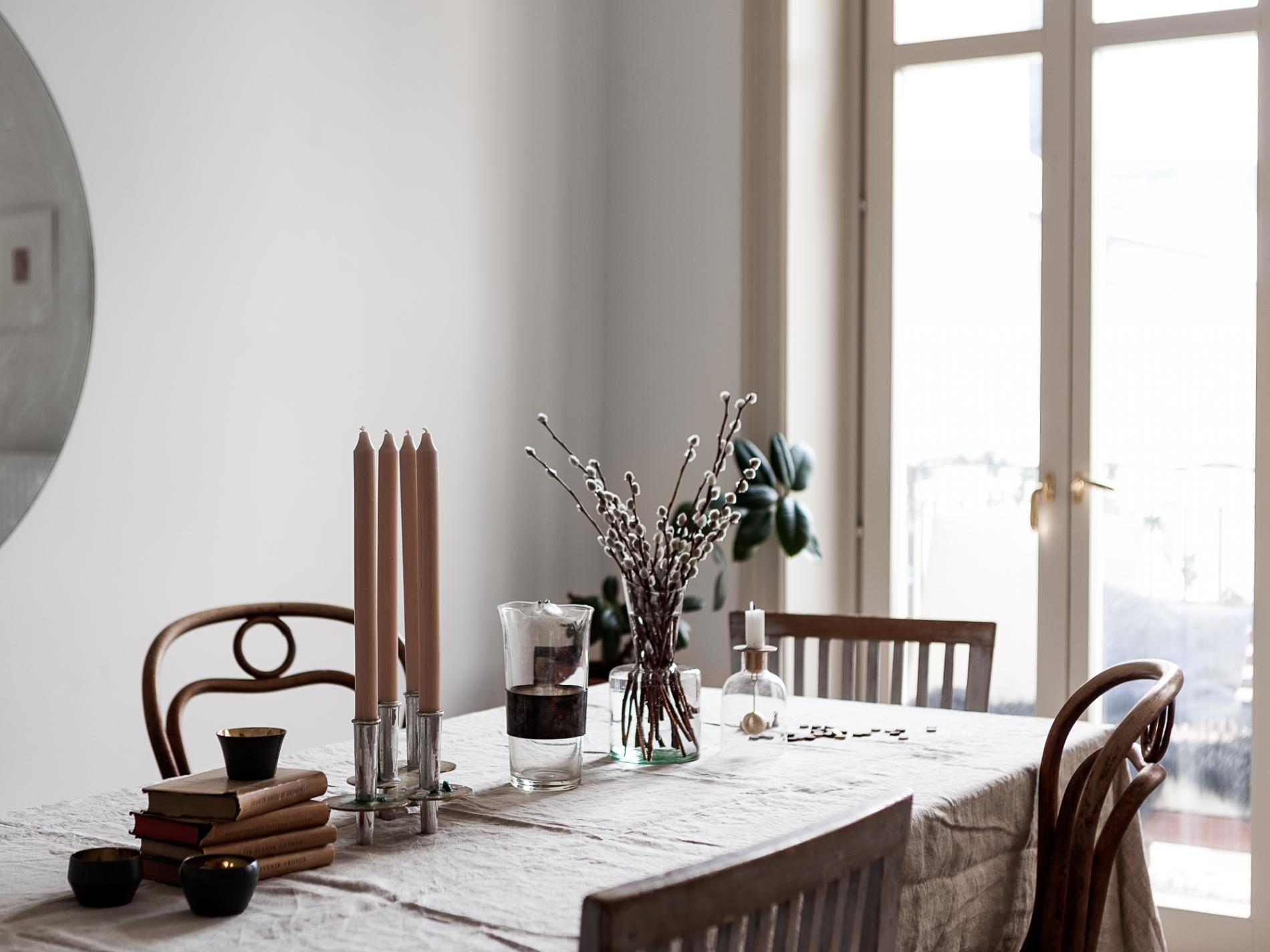 détails table cuisine marbre et bois déco blog Lili in Wonderland