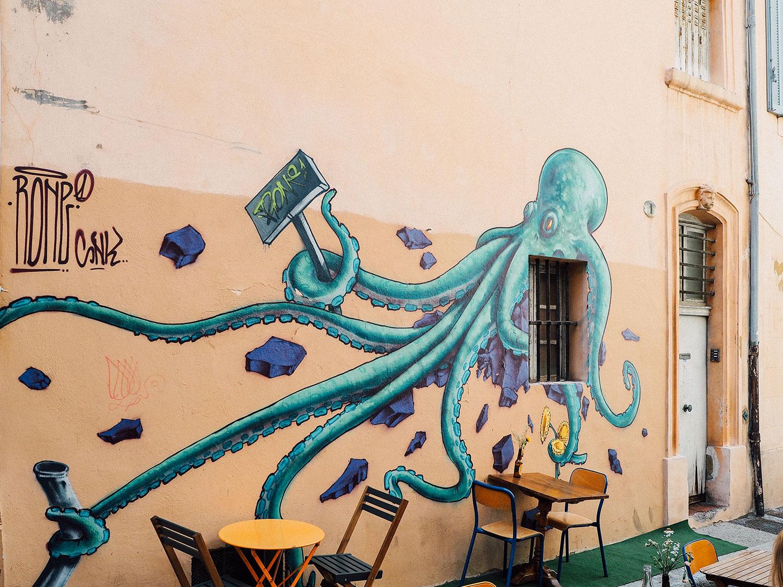 street art dans Le Panier week end Marseille