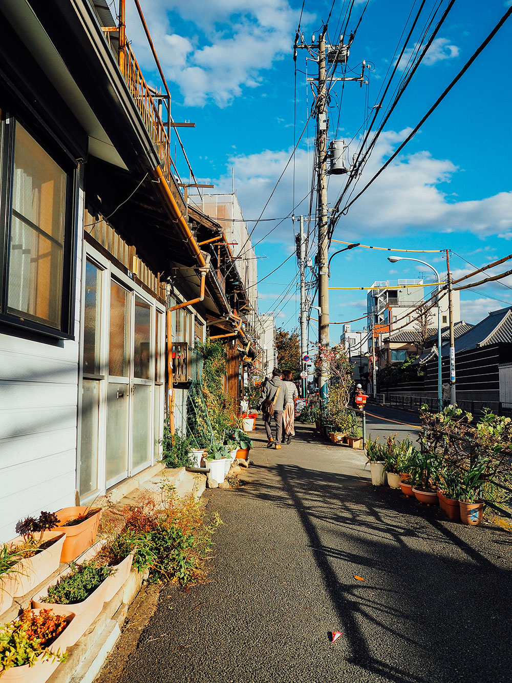 rue yanaka nezu Tokyo traditionnel