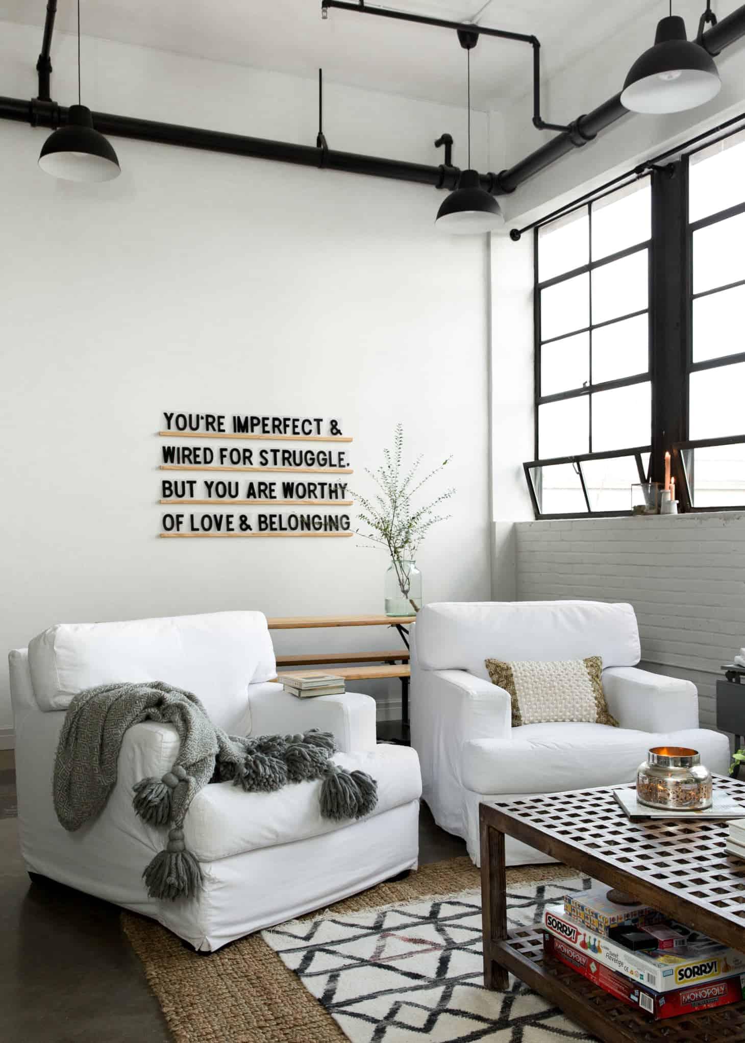 appartement industriel étagères Deco blog