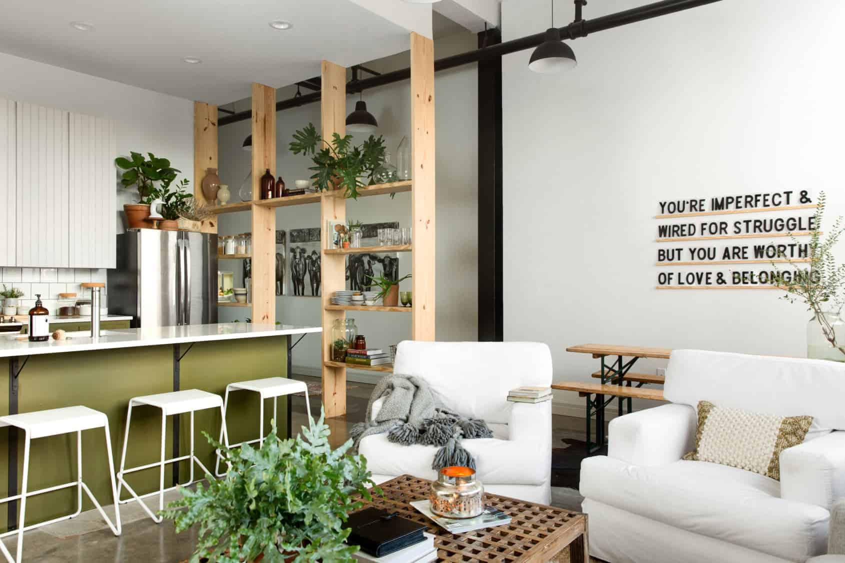 appartement industriel étagère Deco blog
