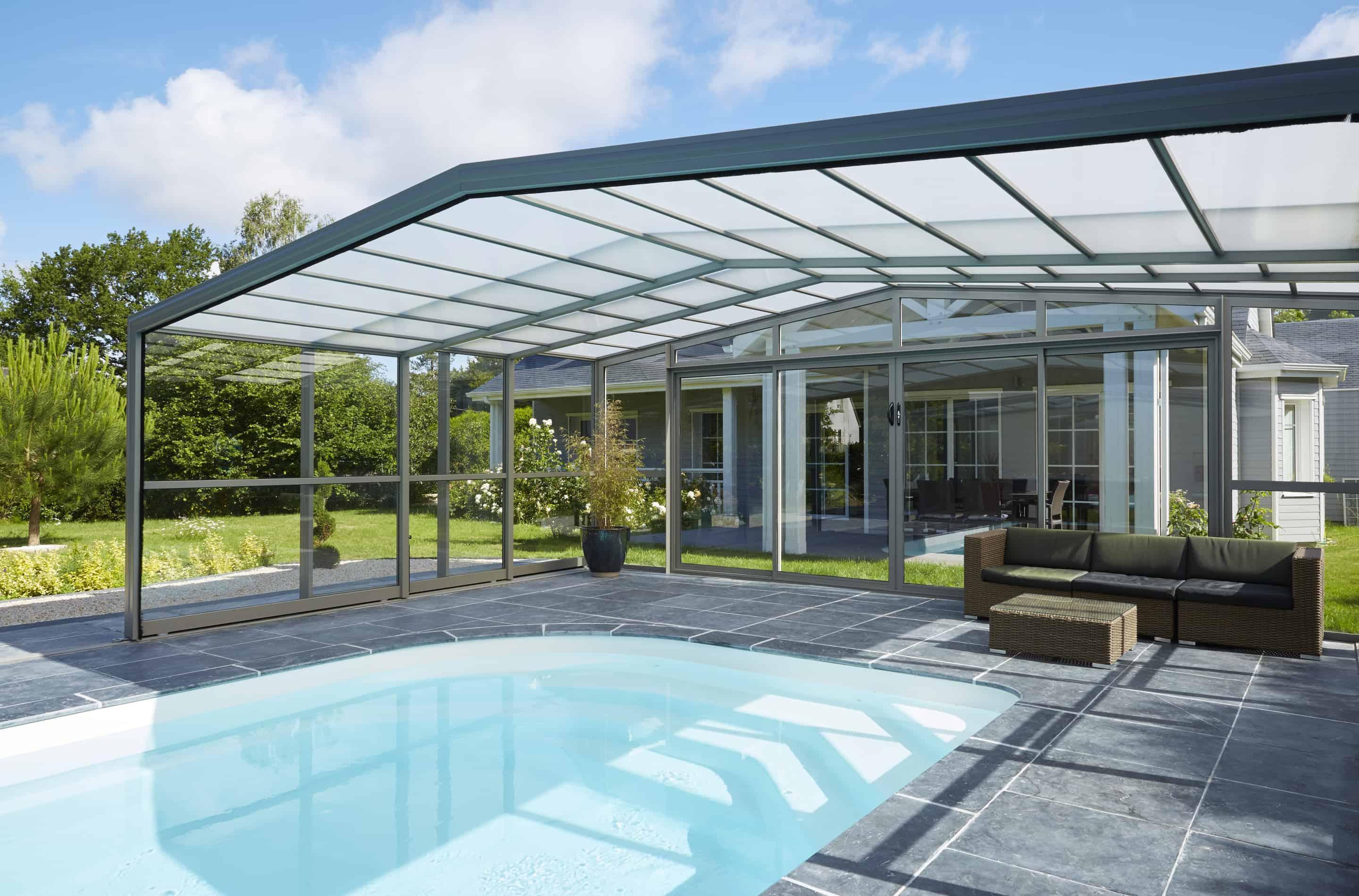 abri de piscine Verand'abris haut aménagement deco