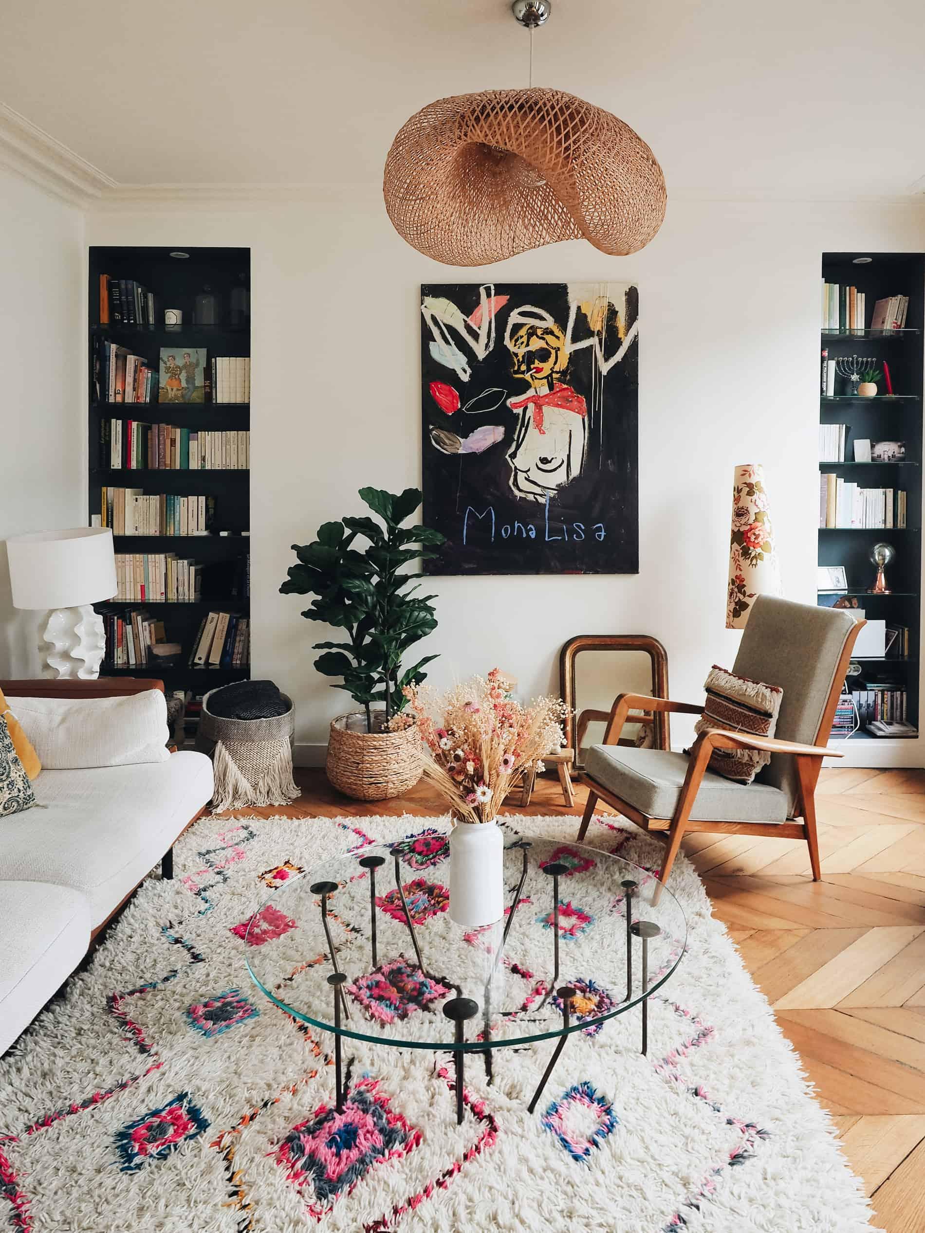 appartement boho vintage salon blog deco lili in wonderland