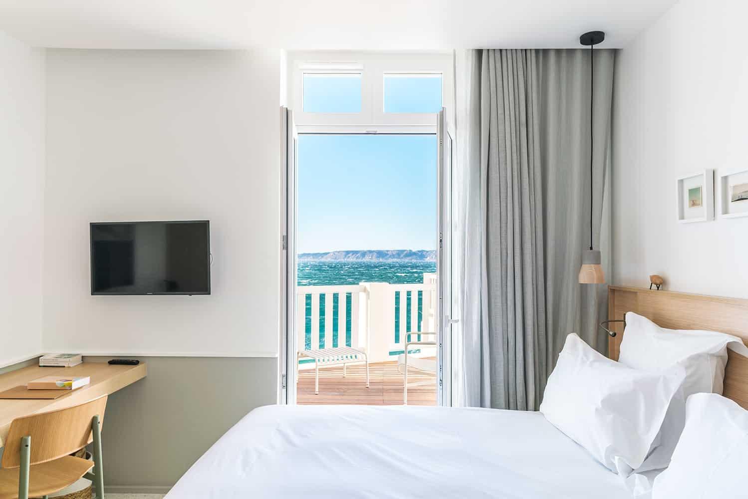 hôtels où séjourner Marseille week-end Les Bords de Mer chambre