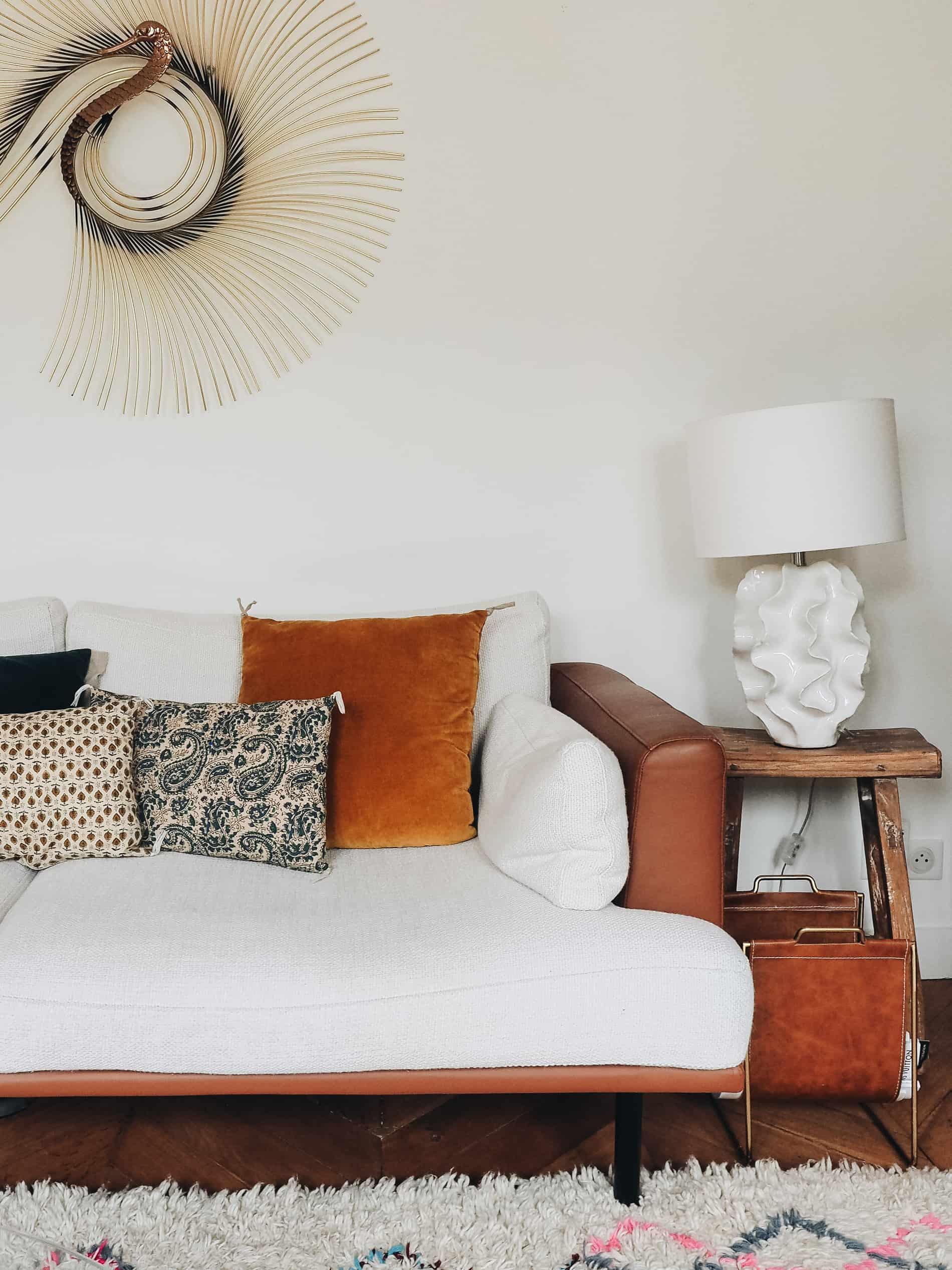 appartement boho vintage salon canapé  blog deco lili in wonderland