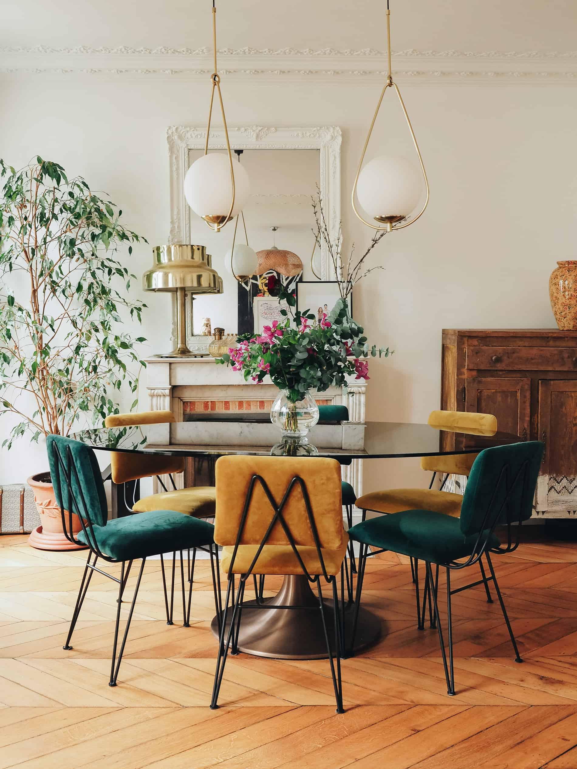 appartement boho vintage salle à manger blog deco lili in wonderland