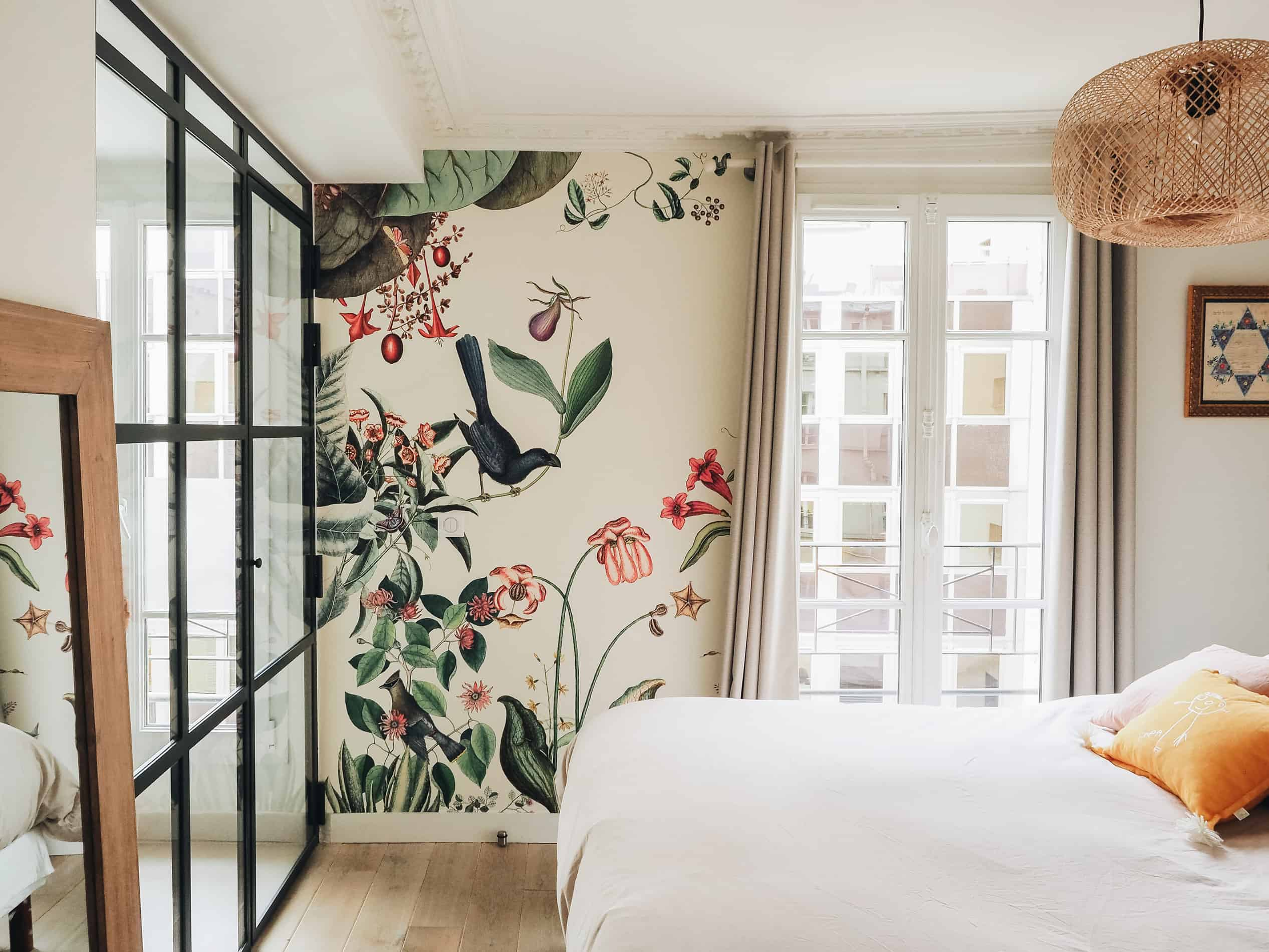 appartement boho vintage chambre parentale papier-peint bien fait  blog deco lili in wonderland