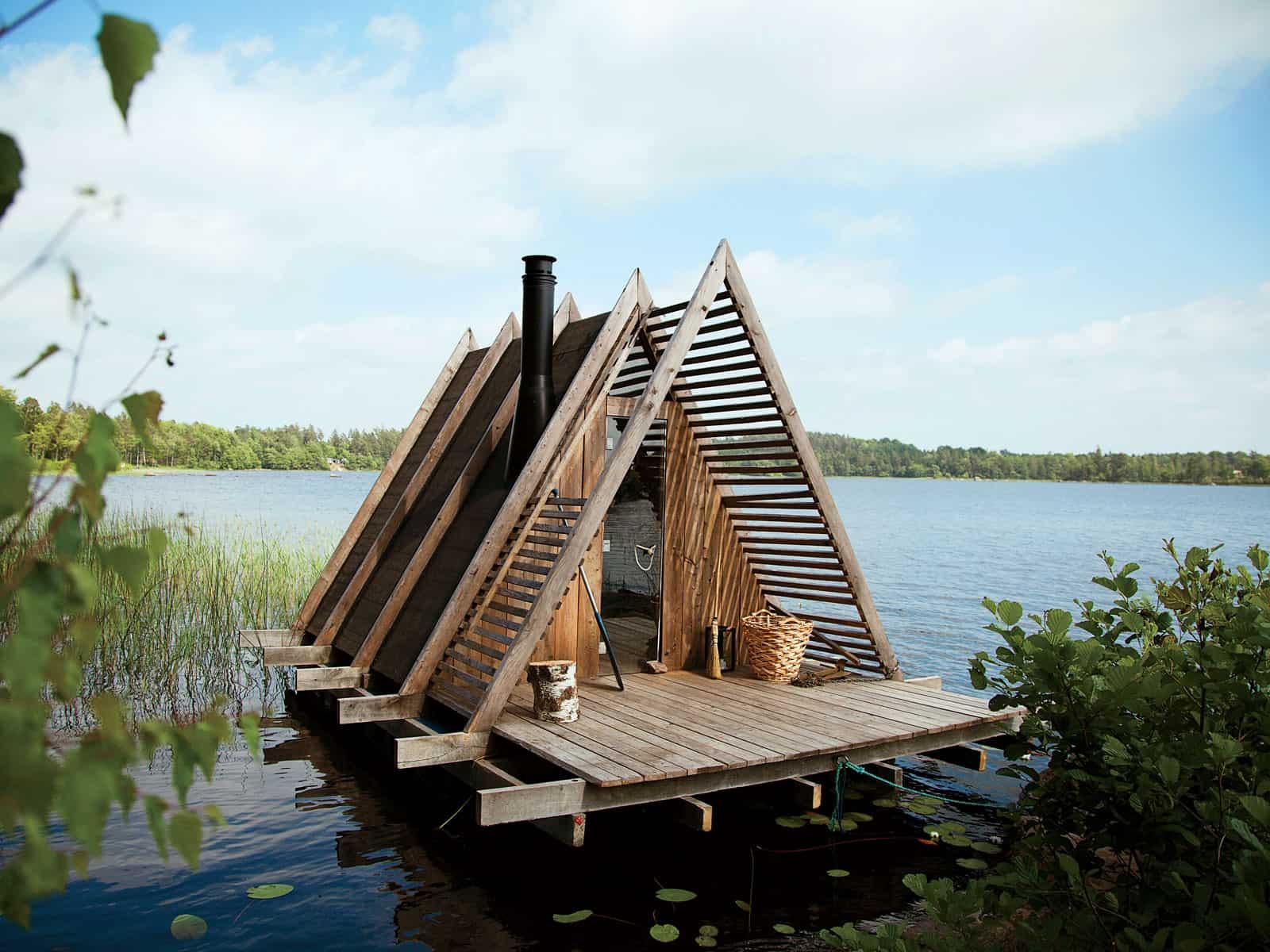 Stedsans in the Woods retraite sauvage cabanes forêt sauna flottant lac