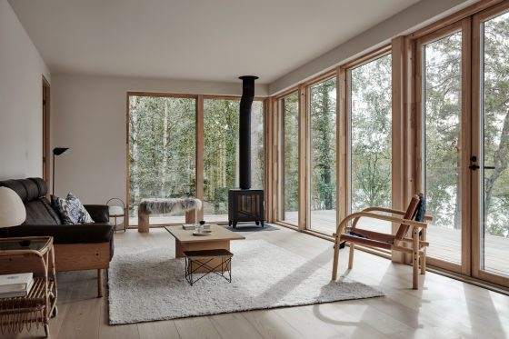 Villa Rauhanniemi architecture intérior design cabin living room blog deco