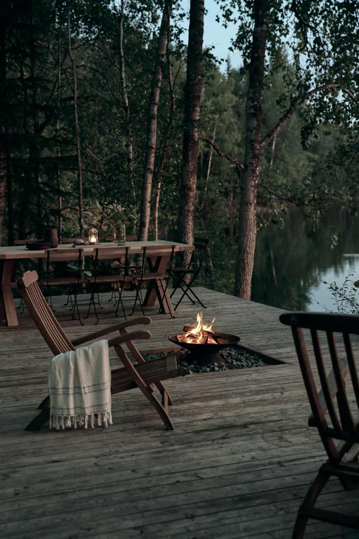 Villa Rauhanniemi architecture intérior design cabin terrace blog deco