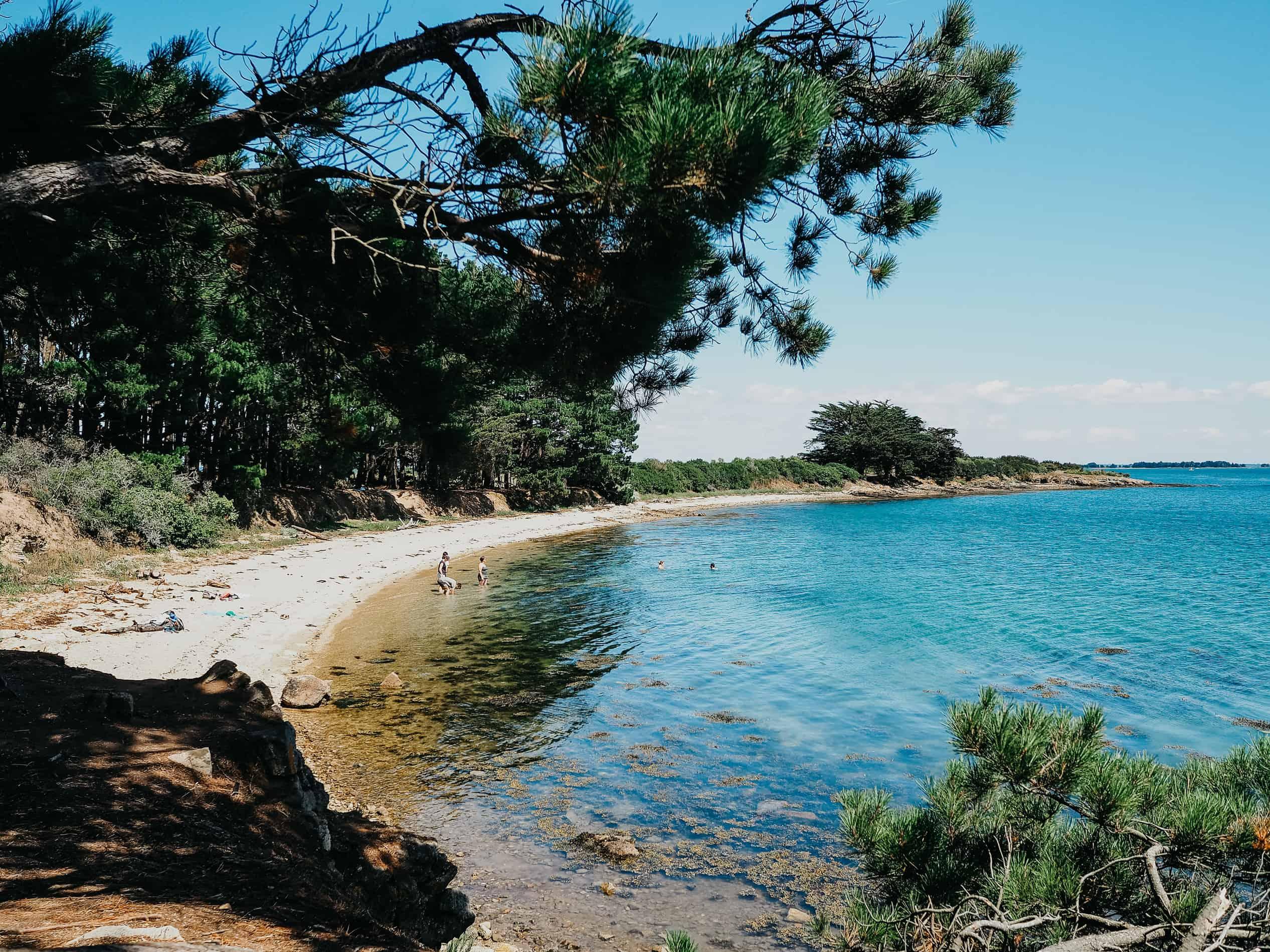 idées escapades france Nantes île aux moines bretagne plage pins