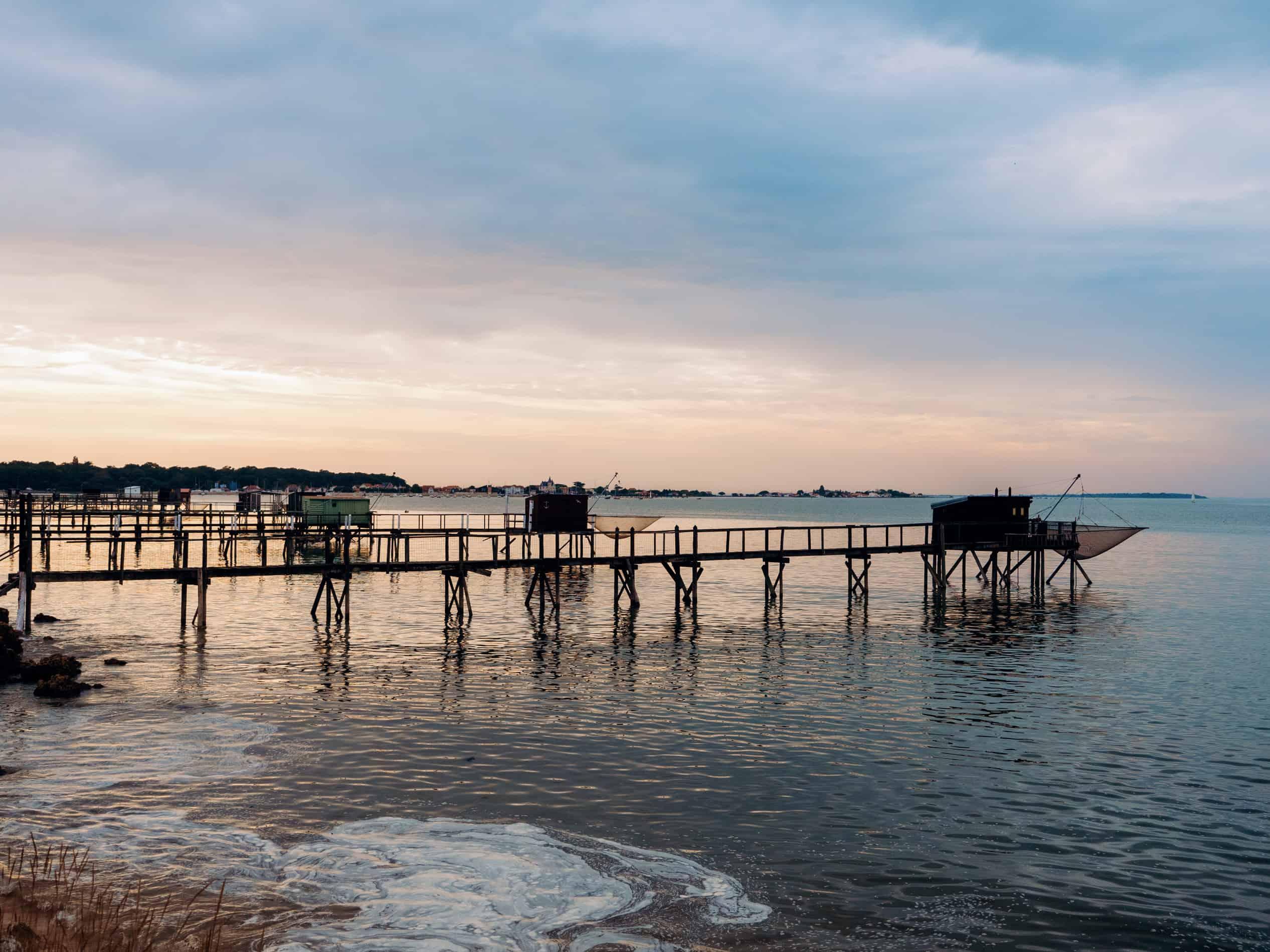 week end Fouras Rochefort île de Ré carrelet plage coucher de soleil