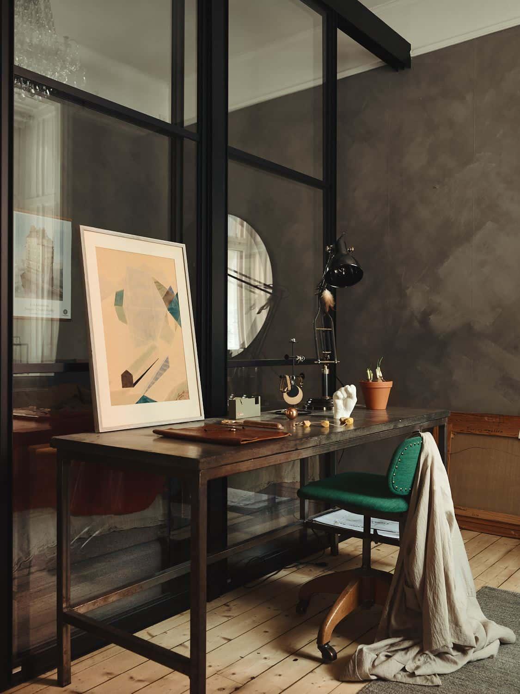 appartement studio couleurs terreuses bureau blog deco Lili in Wonderland