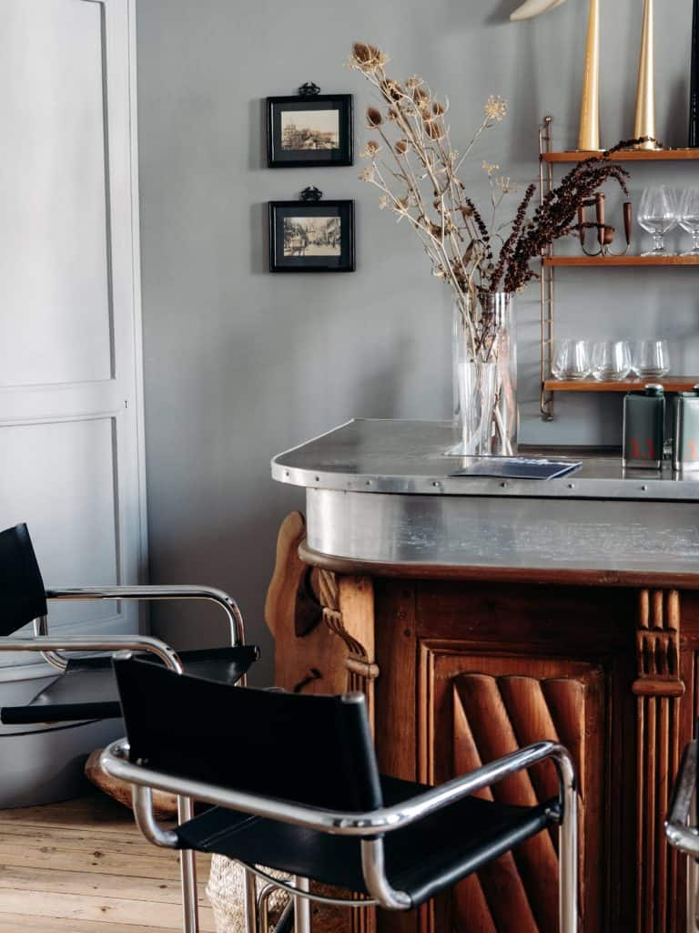 Le Lanternon chambre d'hôtes île de ré bar salon déco vintage