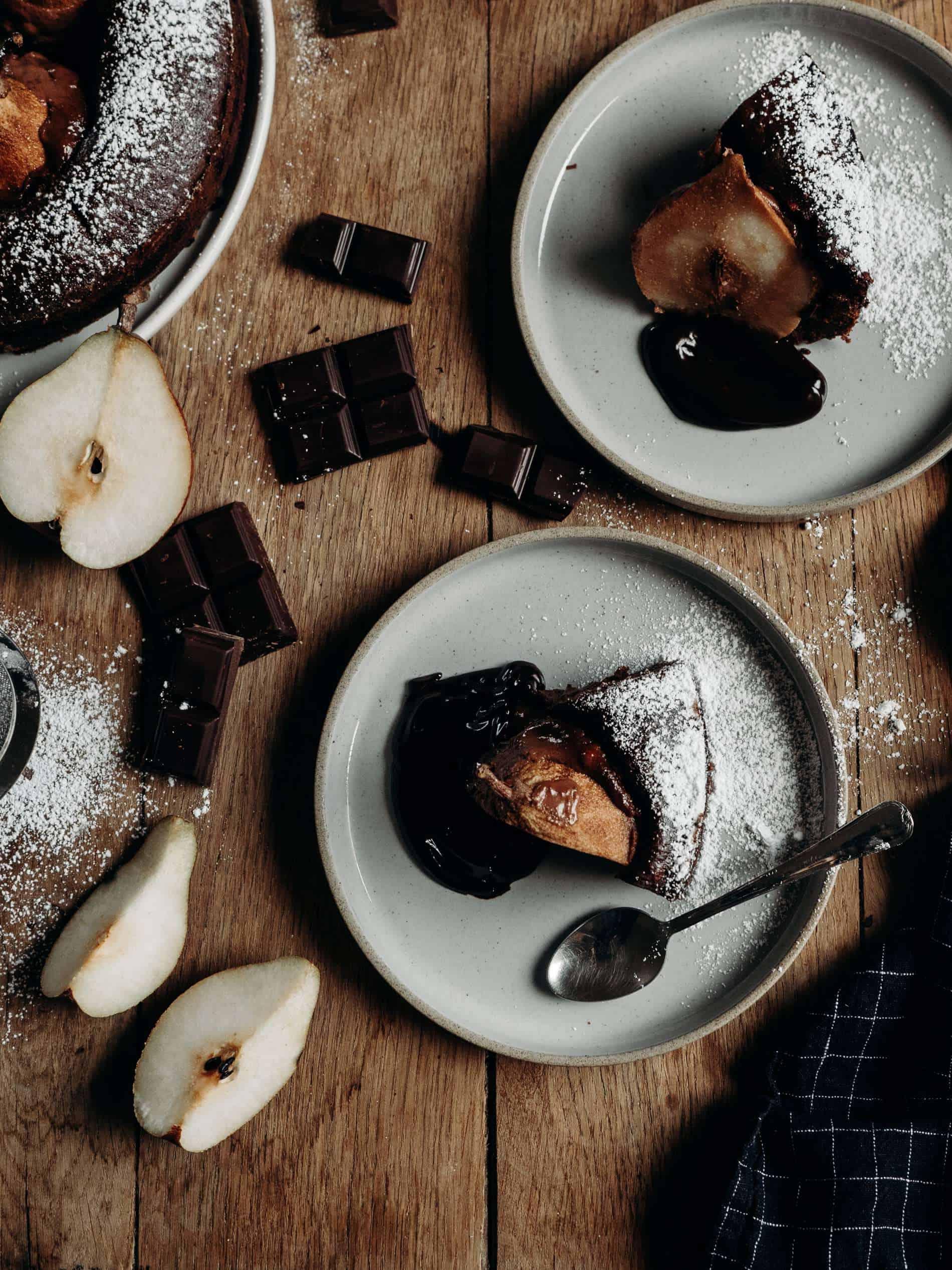 recette gateau au chocolat fondant poire Lili in Wonderland