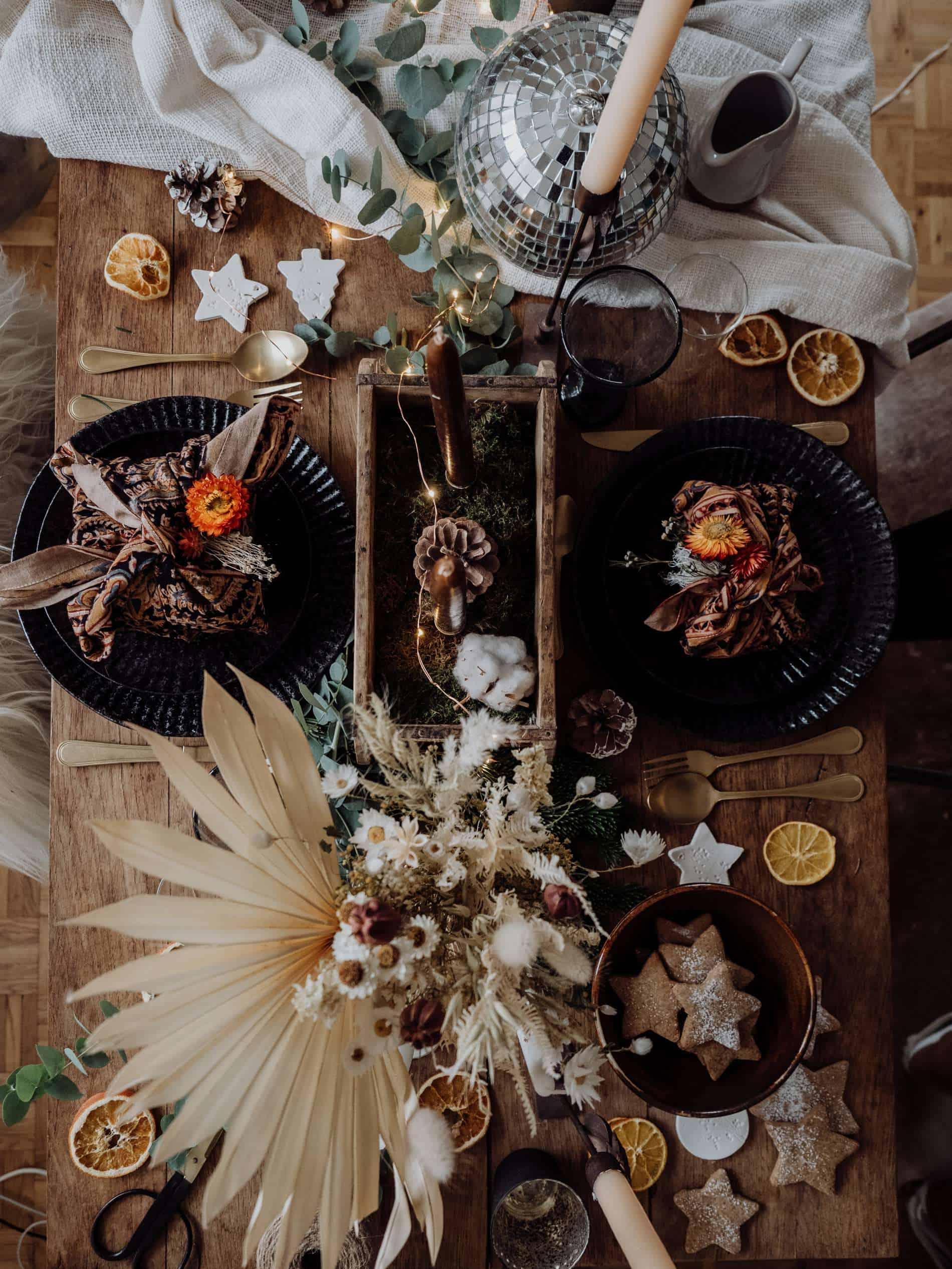 table de Noël kinfolk deco lili in wonderland slow deco