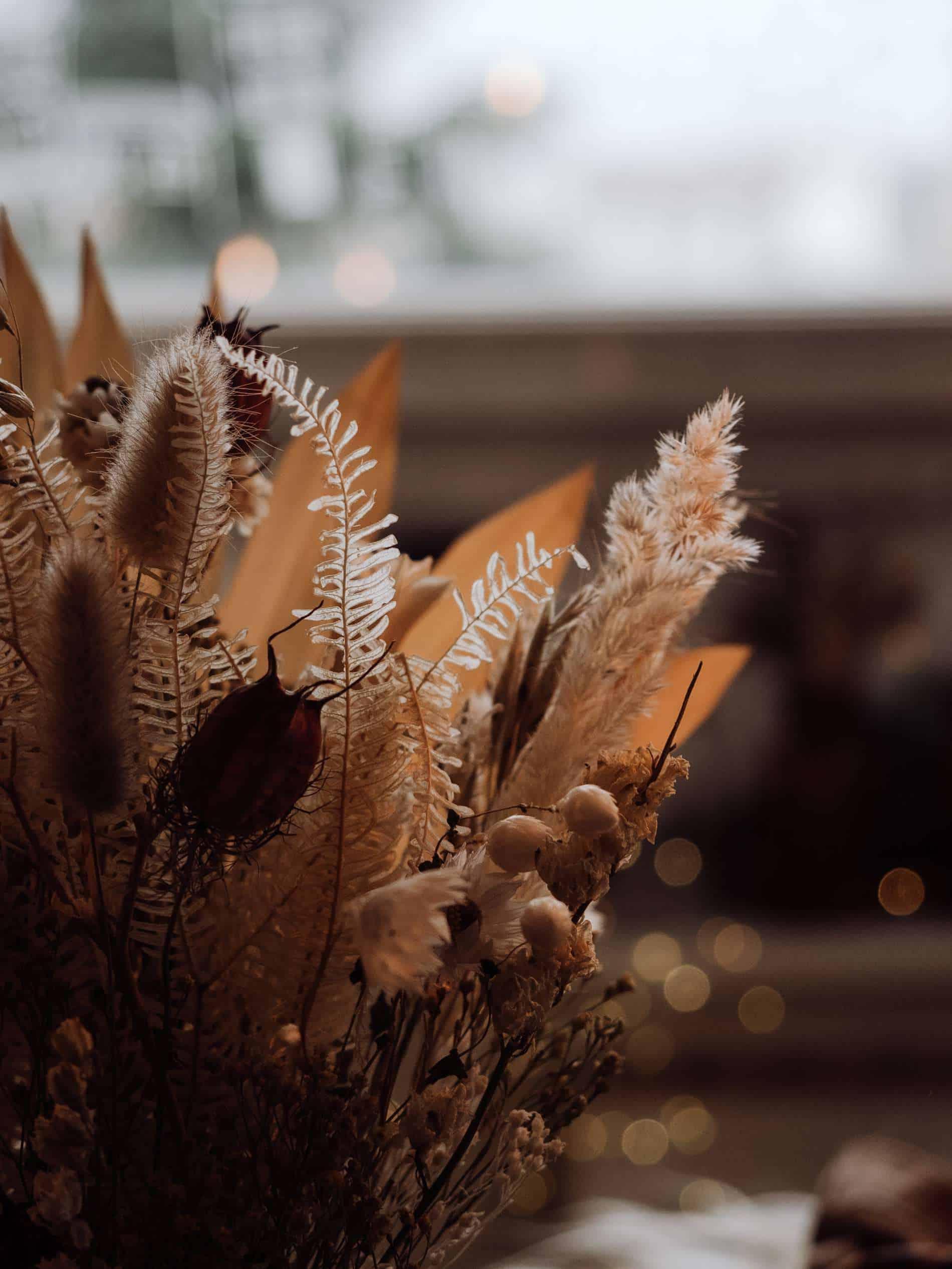 fleurs séchées table de Noël kinfolk deco lili in wonderland