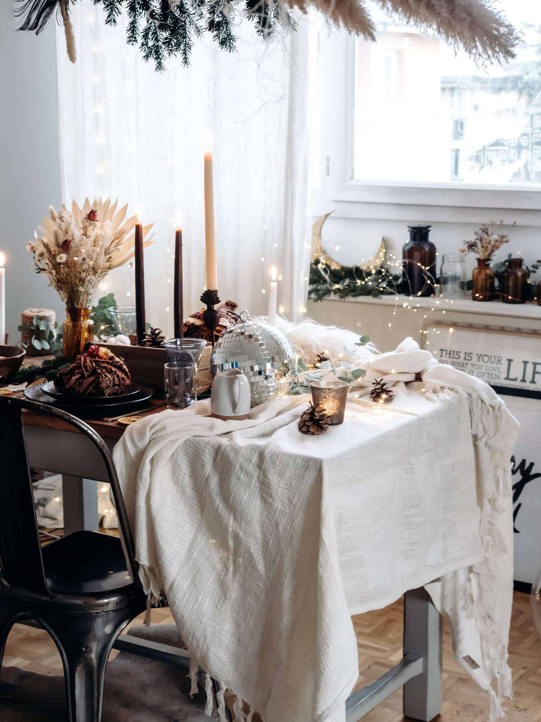 table de Noël kinfolk deco lili in wonderland
