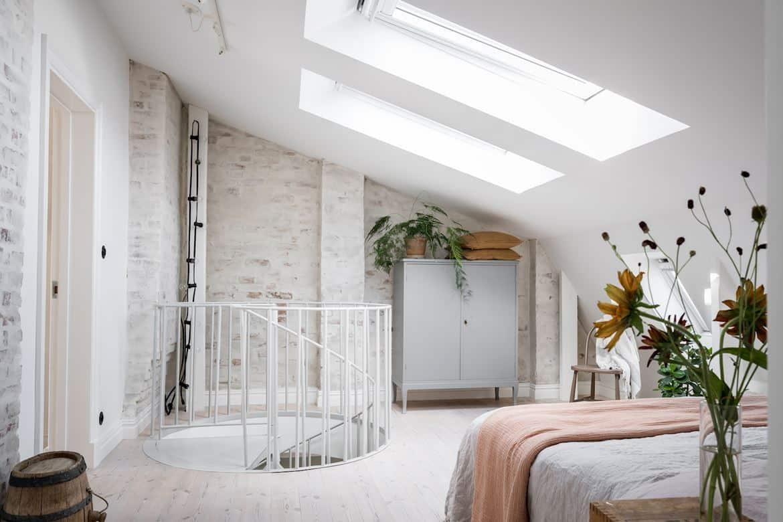appartement scandinave chambre sous combles