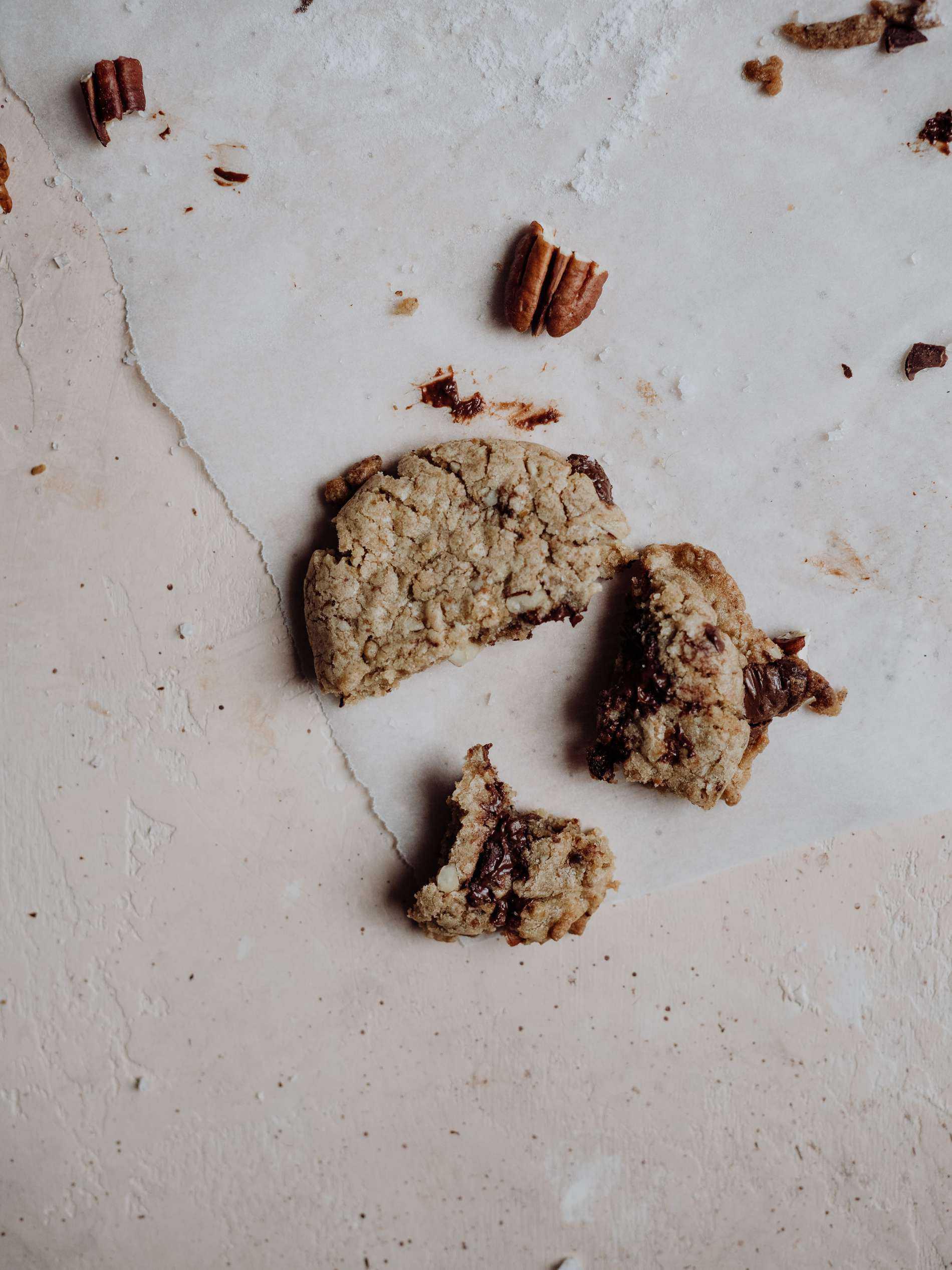 cookie chocolat noir noix de pecan fleur de sel