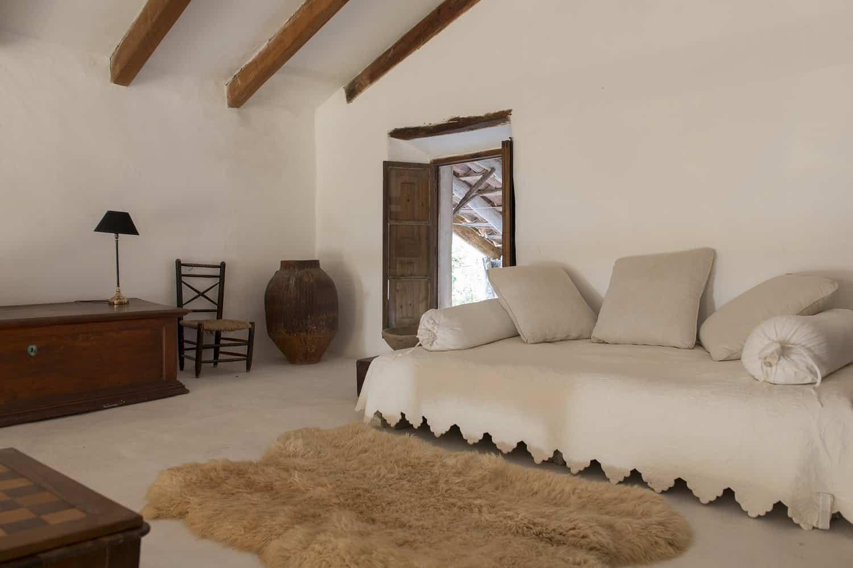 finca Son Ru Mallorca Majorque rénovation chambre salon