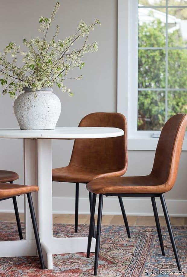 conseils déco choisir chaises salle à manger cuir