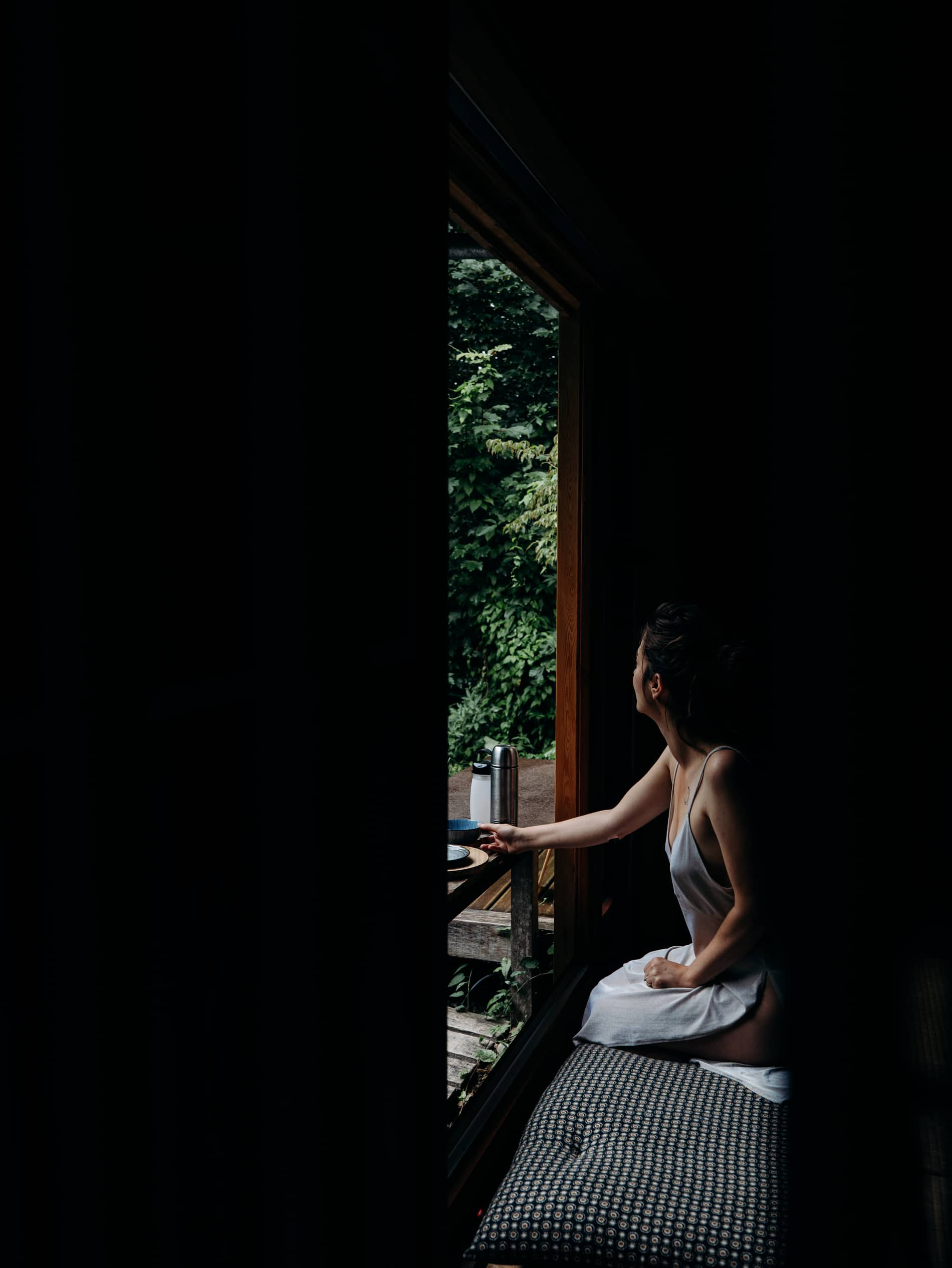 ecolodge Le Bruit de l'Eau petit-déjeuner japonais